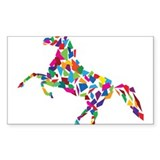 Abstract Horse Decal