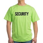 Security (black) Green T-Shirt