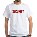 Security (red) White T-Shirt