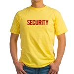 Security (red) Yellow T-Shirt
