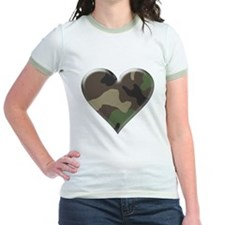 Camouflage Heart Military Love T