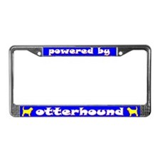 Powered by Otterhound License Plate Frame