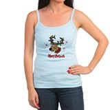 Merry Christmas Rudolf Ladies Top
