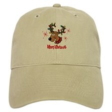 Merry Christmas Reindeer Baseball Cap