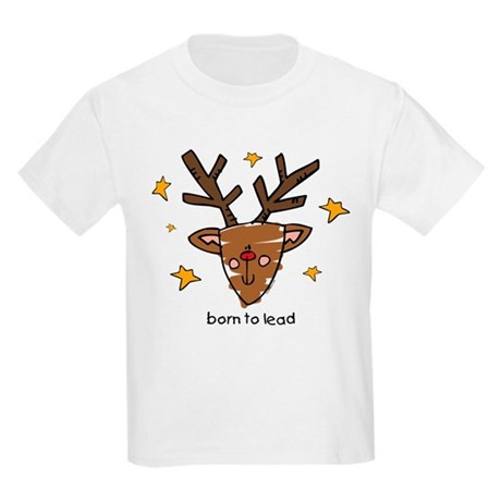 Born To Lead Reindeer Kids Light T-Shirt