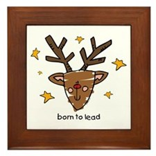 Born To Lead Reindeer Framed Tile