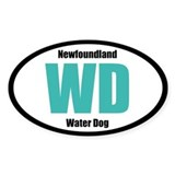 Newfoundland Water Dog Title Decal