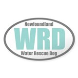 Newfoundland Water Rescue Dog Title Decal