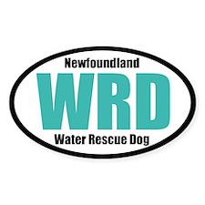 Newfoundland Water Rescue Dog Title Sticker (Oval)