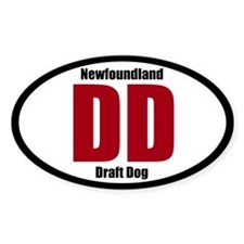 Newfoundland Draft Dog Title Sticker (Oval)
