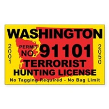 Washington Terrorist Hunting License Decal