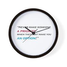 priority-option Wall Clock