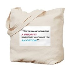 priority-option Tote Bag