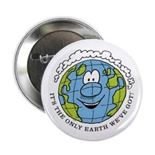 "Only Earth 2.25"" Button"