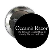 "Occam's Razor 2.25"" Button"