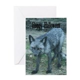 Halloween Fox Greeting Card