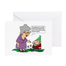 Party For A Month Greeting Cards (Pk of 10)