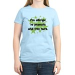 I am allergic to Peanuts & Tr Women's Light T-Shir