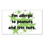 I am allergic to Peanuts & Tr Sticker (Rectangle)