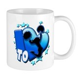 I Love To Cheer (Blue) Small Mugs