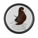 Tumbler Pigeon Bearded Large Wall Clock
