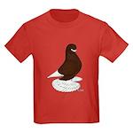 Tumbler Pigeon Bearded Kids Dark T-Shirt