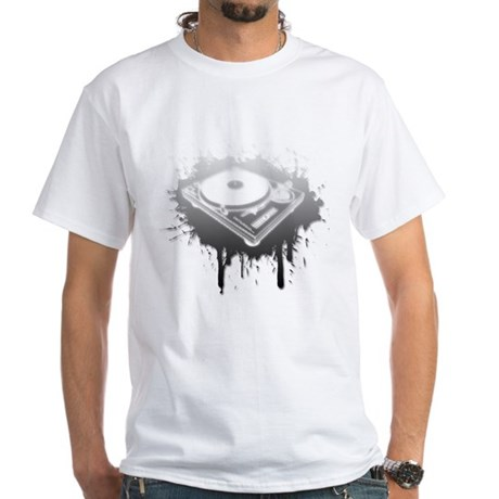Graffiti Turntable White T-Shirt