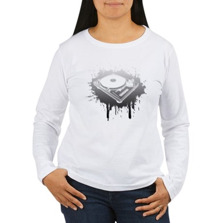 Graffiti Turntable Women's Long Sleeve T-Shirt