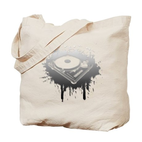 Graffiti Turntable Tote Bag