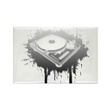 Graffiti Turntable Rectangle Magnet