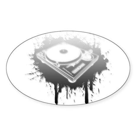 Graffiti Turntable Sticker (Oval)