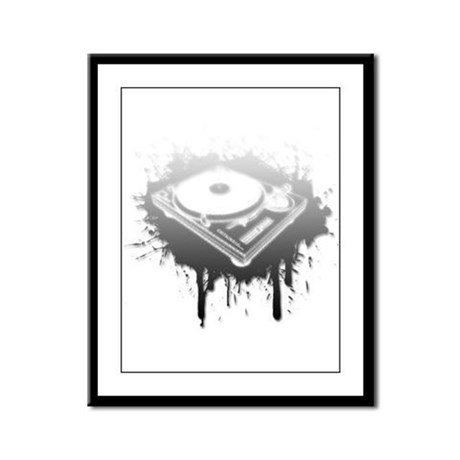 Graffiti Turntable Framed Panel Print