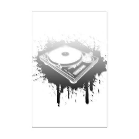 Graffiti Turntable Mini Poster Print