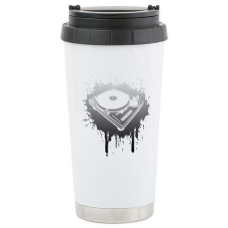 Graffiti Turntable Ceramic Travel Mug