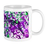 Green and Purple Paint Splatter Mug