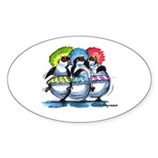 pEnGuIn UmBrEllaS Oval Decal