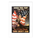 Over the Top Liberty Bonds Postcards (Package of 8