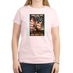 Over the Top Liberty Bonds (Front) Women's Pink T-
