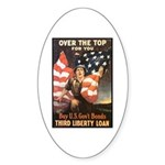 Over the Top Liberty Bonds Oval Sticker