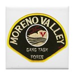 Moreno Valley Gang Task Force Tile Coaster