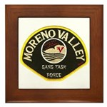 Moreno Valley Gang Task Force Framed Tile