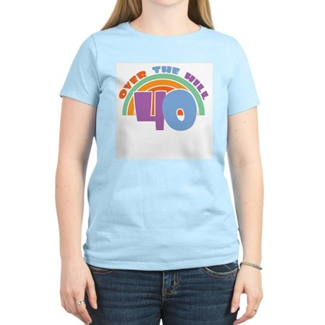 Over the Hill 40th Birthday Women's Pink T-Shirt