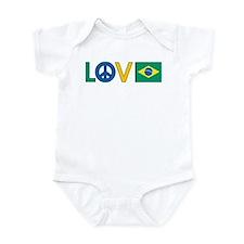 Love Peace Brazil Infant Bodysuit