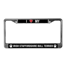 Irish Staffordshire Bull Terrier LicensePlateFrame
