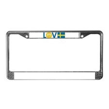 Love Peace Sweden License Plate Frame