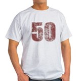 50th Birthday Red Grunge T-Shirt