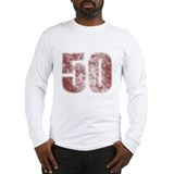 50th Birthday Red Grunge Long Sleeve T-Shirt
