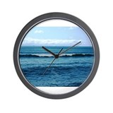 Blue/Green Ocean Wall Clock