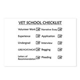 Vet School Checklist Postcards (Package of 8)