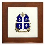 Proud Quebecois Framed Tile